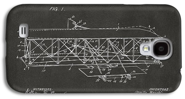 1906 Wright Brothers Flying Machine Patent Gray Galaxy S4 Case by Nikki Marie Smith