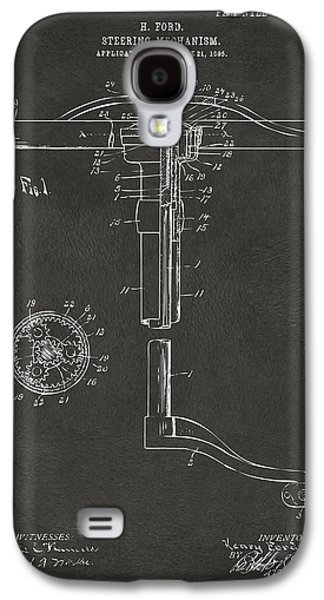 1907 Henry Ford Steering Wheel Patent Gray Galaxy S4 Case by Nikki Marie Smith