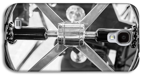 1907 Galaxy S4 Cases - 1907 Panhard et Levassor Steering Wheel Galaxy S4 Case by Jill Reger