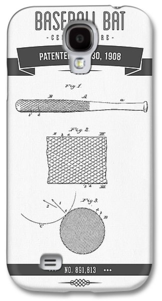 Technical Mixed Media Galaxy S4 Cases - 1908 Baseball Bat Patent Drawing Galaxy S4 Case by Aged Pixel
