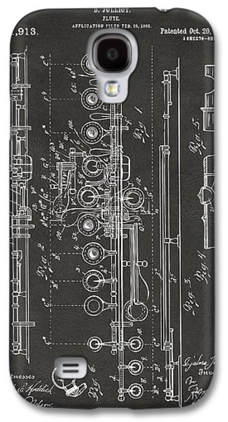 1908 Flute Patent - Gray Galaxy S4 Case by Nikki Marie Smith