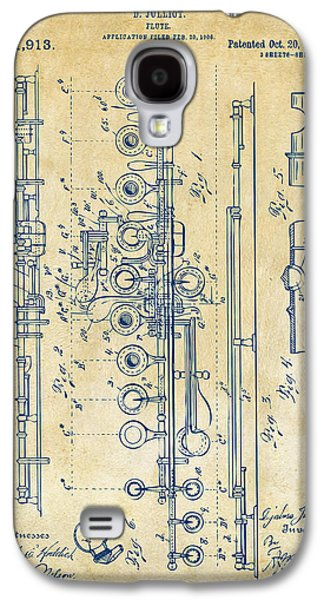 1908 Flute Patent - Vintage Galaxy S4 Case by Nikki Marie Smith