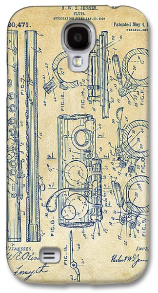 1909 Flute Patent - Vintage Galaxy S4 Case by Nikki Marie Smith