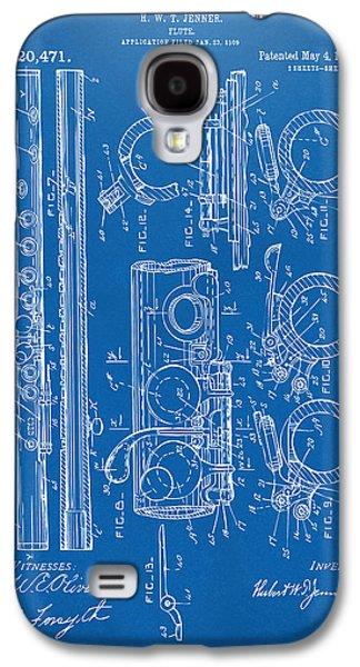 1909 Flute Patent - Blueprint Galaxy S4 Case by Nikki Marie Smith