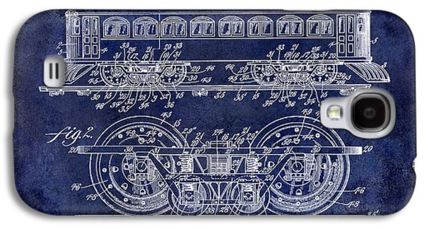 Train Photographs Galaxy S4 Cases - 1909 Railway System Patent Drawing Blue Galaxy S4 Case by Jon Neidert