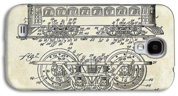 Train Photographs Galaxy S4 Cases - 1909 Railway System Patent Drawing  Galaxy S4 Case by Jon Neidert