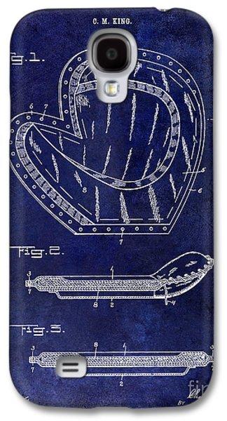 Sports Photographs Galaxy S4 Cases - 1910 Baseball Patent Drawing Blue Galaxy S4 Case by Jon Neidert