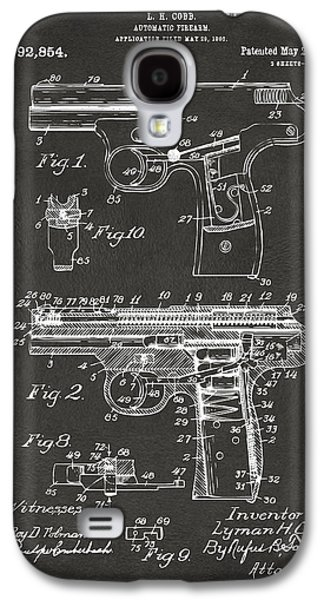 Police Galaxy S4 Cases - 1911 Automatic Firearm Patent Artwork - Gray Galaxy S4 Case by Nikki Marie Smith
