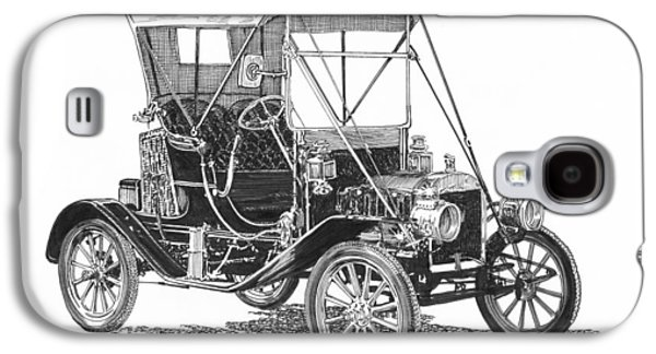 20th Drawings Galaxy S4 Cases - 1911 Ford Model T Tin Lizzie Galaxy S4 Case by Jack Pumphrey