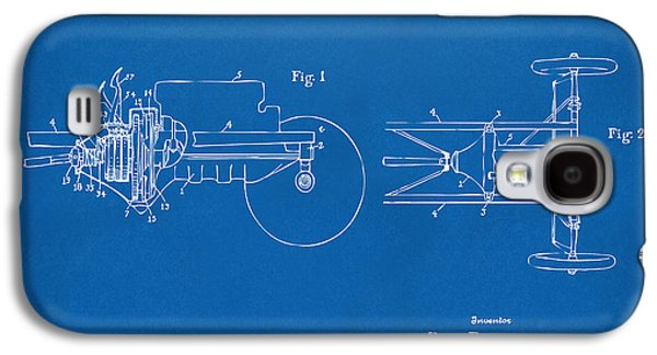 Ford Model T Car Galaxy S4 Cases - 1911 Henry Ford Transmission Patent Blueprint Galaxy S4 Case by Nikki Marie Smith