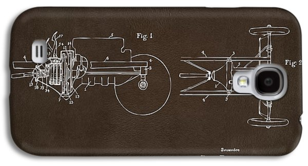 Transmission Galaxy S4 Cases - 1911 Henry Ford Transmission Patent Espresso Galaxy S4 Case by Nikki Marie Smith