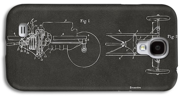 Ford Model T Car Galaxy S4 Cases - 1911 Henry Ford Transmission Patent Gray Galaxy S4 Case by Nikki Marie Smith