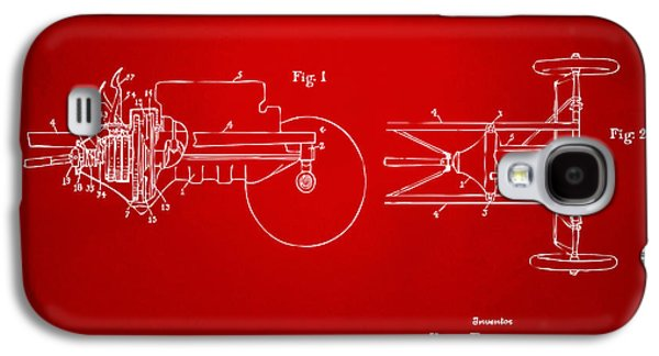 Transmission Galaxy S4 Cases - 1911 Henry Ford Transmission Patent Red Galaxy S4 Case by Nikki Marie Smith