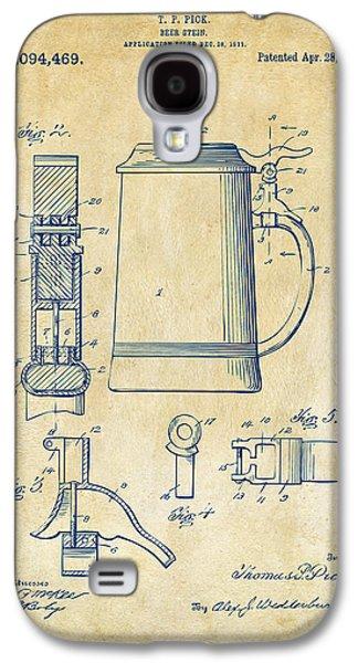 1914 Beer Stein Patent Artwork - Vintage Galaxy S4 Case by Nikki Marie Smith