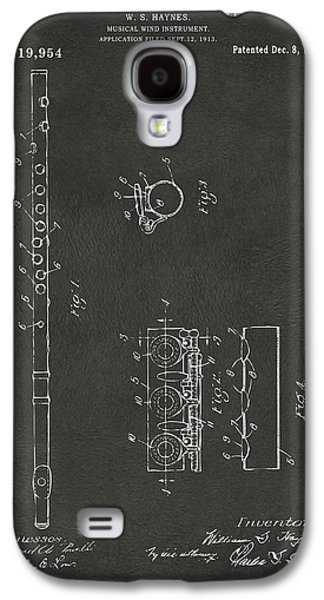 1914 Flute Patent - Gray Galaxy S4 Case by Nikki Marie Smith
