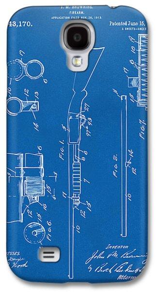 Remington Digital Galaxy S4 Cases - 1915 Ithaca Shotgun Patent Blueprint Galaxy S4 Case by Nikki Marie Smith