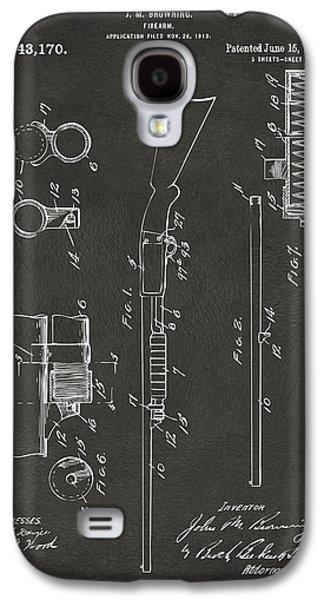 Remington Digital Galaxy S4 Cases - 1915 Ithaca Shotgun Patent Gray Galaxy S4 Case by Nikki Marie Smith