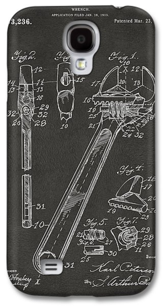 1915 Wrench Patent Artwork - Gray Galaxy S4 Case by Nikki Marie Smith