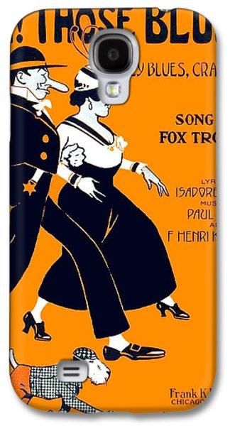 Dog Trots Galaxy S4 Cases - 1916 - Oh Those Blues - Isador Murphy - Paul Biese - Henri Klickmann - Sheet Music Galaxy S4 Case by John Madison