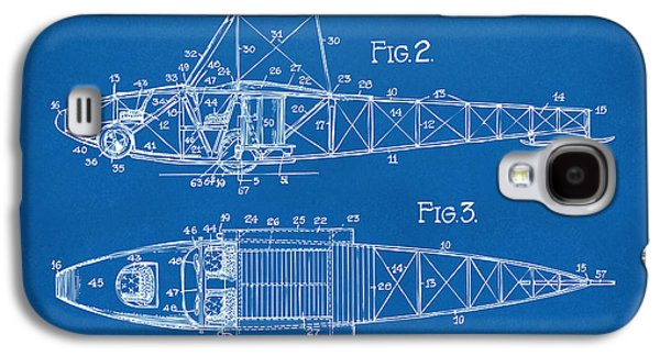 1917 Glenn Curtiss Aeroplane Patent Artwork 2 Blueprint Galaxy S4 Case by Nikki Marie Smith