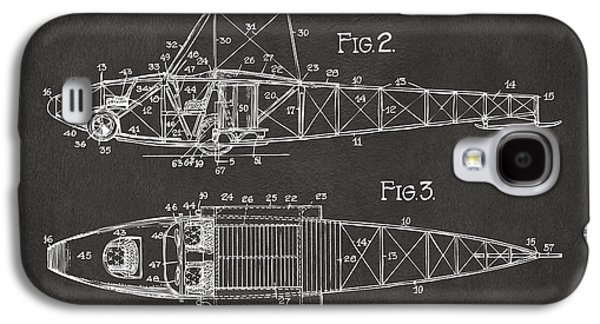 Curtiss Galaxy S4 Cases - 1917 Glenn Curtiss Aeroplane Patent Artwork 2 - Gray Galaxy S4 Case by Nikki Marie Smith