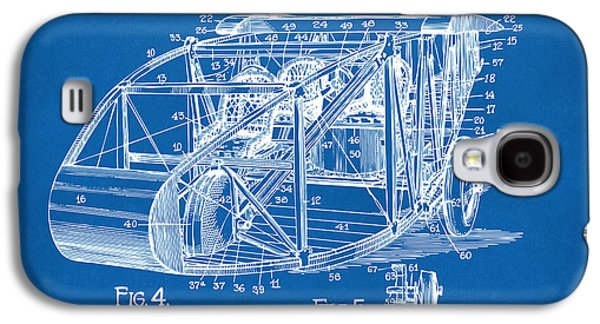 Curtiss Galaxy S4 Cases - 1917 Glenn Curtiss Aeroplane Patent Artwork 3 Blueprint Galaxy S4 Case by Nikki Marie Smith