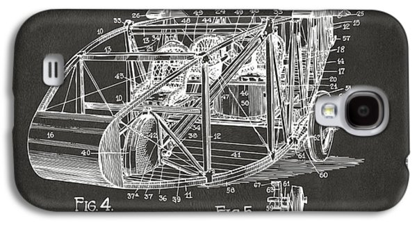 1917 Glenn Curtiss Aeroplane Patent Artwork 3 - Gray Galaxy S4 Case by Nikki Marie Smith