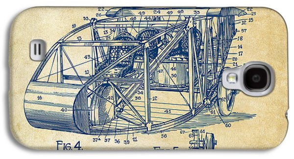 Curtiss Galaxy S4 Cases - 1917 Glenn Curtiss Aeroplane Patent Artwork 3 Vintage Galaxy S4 Case by Nikki Marie Smith