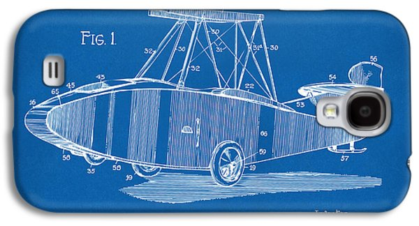 Curtiss Galaxy S4 Cases - 1917 Glenn Curtiss Aeroplane Patent Artwork Blueprint Galaxy S4 Case by Nikki Marie Smith
