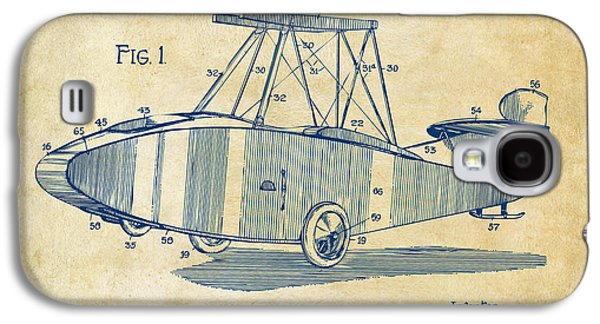1917 Glenn Curtiss Aeroplane Patent Artwork Vintage Galaxy S4 Case by Nikki Marie Smith