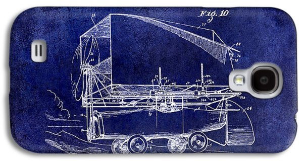Airliner Galaxy S4 Cases - 1919 Airship Patent Drawing Blue Galaxy S4 Case by Jon Neidert
