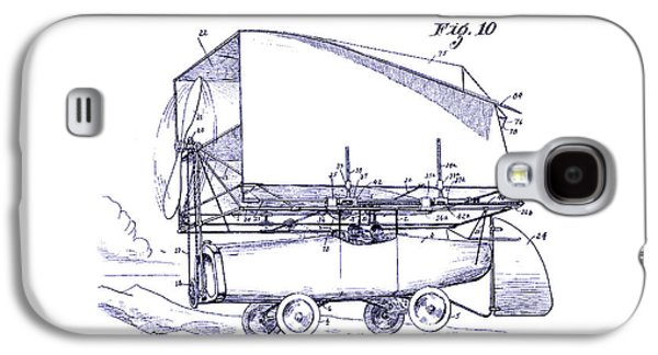 Airliner Galaxy S4 Cases - 1919 Airship Patent Drawing Blueprint Galaxy S4 Case by Jon Neidert