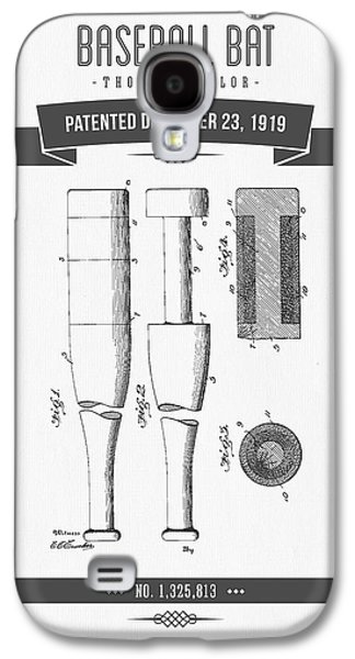 Technical Mixed Media Galaxy S4 Cases - 1919 Baseball Bat Patent Drawing Galaxy S4 Case by Aged Pixel