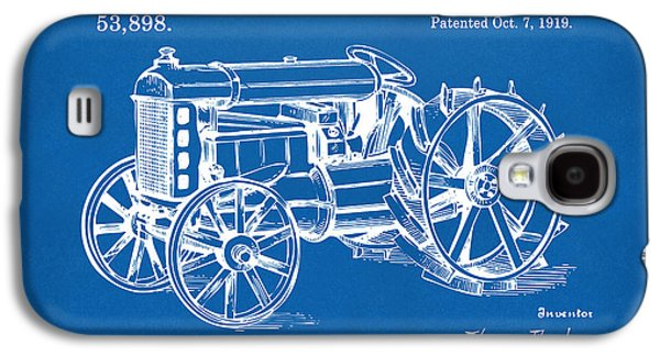 Tractor Prints Galaxy S4 Cases - 1919 Henry Ford Tractor Patent Blueprint Galaxy S4 Case by Nikki Marie Smith