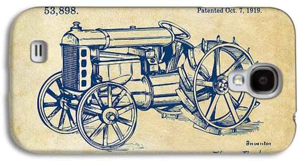 Tractor Prints Galaxy S4 Cases - 1919 Henry Ford Tractor Patent Vintage Galaxy S4 Case by Nikki Marie Smith