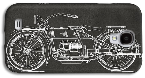 1919 Motorcycle Patent Artwork - Gray Galaxy S4 Case by Nikki Marie Smith