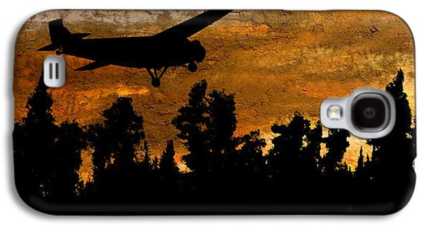 Passenger Plane Mixed Media Galaxy S4 Cases - 1920s Ford Trimotor Airplane Skims Treetops Galaxy S4 Case by R Kyllo