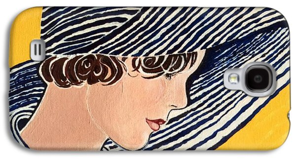 Girl Galaxy S4 Cases - 1920s Picture Hat Galaxy S4 Case by Barbara Chase