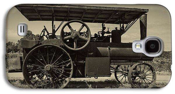 Machinery Galaxy S4 Cases - 1921 Aultman Taylor Tractor Galaxy S4 Case by Debra and Dave Vanderlaan