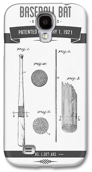 Technical Mixed Media Galaxy S4 Cases - 1921 Baseball Bat Patent Drawing Galaxy S4 Case by Aged Pixel