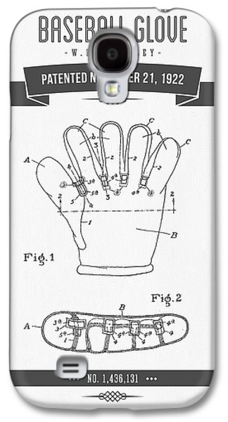 1922 Baseball Glove Patent Drawing Galaxy S4 Case by Aged Pixel