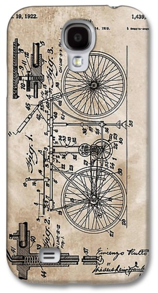 Gear Mixed Media Galaxy S4 Cases - 1922 Bicycle Patent Galaxy S4 Case by Dan Sproul
