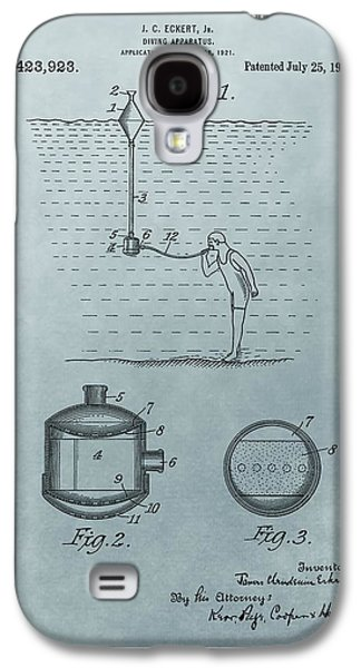 Gear Mixed Media Galaxy S4 Cases - 1922 Diving Apparatus Patent Illustration Galaxy S4 Case by Dan Sproul