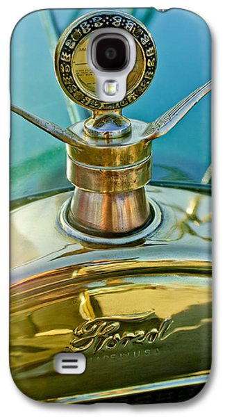Ford Model T Car Galaxy S4 Cases - 1923 Ford Model T Hood Ornament Galaxy S4 Case by Jill Reger
