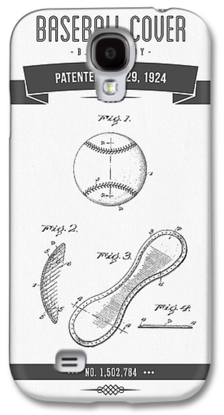 Technical Mixed Media Galaxy S4 Cases - 1924 Baseball Cover Patent Drawing Galaxy S4 Case by Aged Pixel