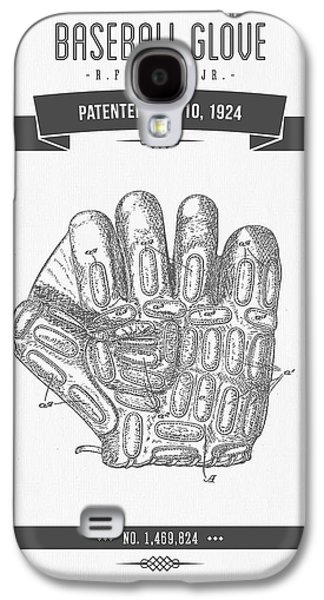Technical Mixed Media Galaxy S4 Cases - 1924 Baseball Glove Patent Drawing Galaxy S4 Case by Aged Pixel