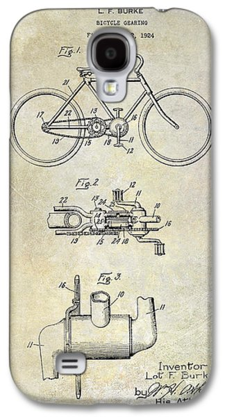Bicycle Photographs Galaxy S4 Cases - 1924 Bicycle Patent Drawing Galaxy S4 Case by Jon Neidert