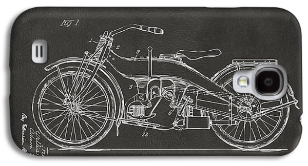1924 Harley Motorcycle Patent Artwork - Gray Galaxy S4 Case by Nikki Marie Smith