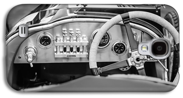 Transportation Photographs Galaxy S4 Cases - 1925 Aston Martin 16 Valve Twin Cam Grand Prix Steering Wheel -0790bw Galaxy S4 Case by Jill Reger