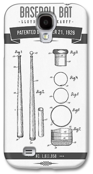 Technical Mixed Media Galaxy S4 Cases - 1926 Baseball Bat Patent Drawing Galaxy S4 Case by Aged Pixel